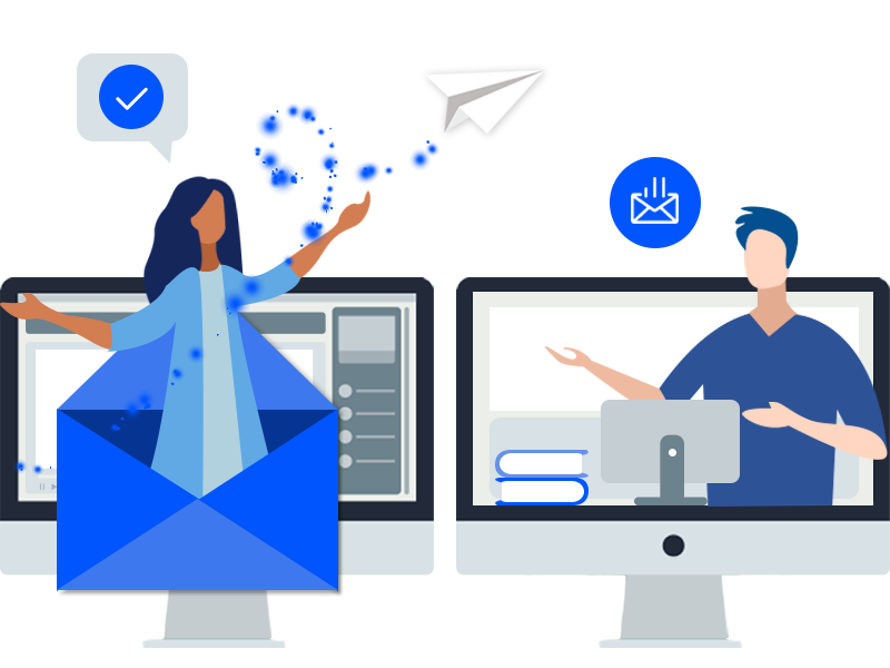 Asynchronous messaging for online virtual events