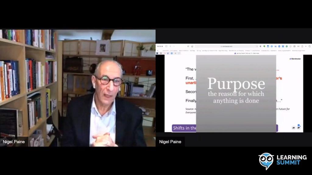 Learning summit Nigel Paine